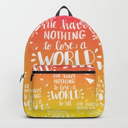 a WORLD to see - sunset palette Backpack