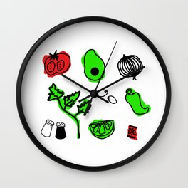 Let's Give Them Something To Guac About Wall Clock