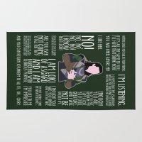 loki Area & Throw Rugs featuring Loki by MacGuffin Designs