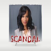 scandal Shower Curtains featuring SCANDAL by I Love Decor