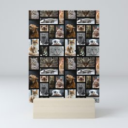 65 MCMLXV The Cat's Meow Postcard Collage Pattern Mini Art Print