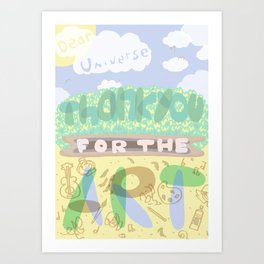 Thanks for the art.  Art Print