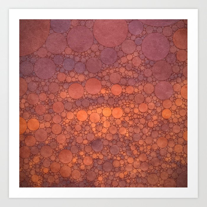 Percolated Sunset in Warm Tones Art Print