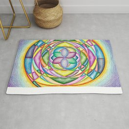 Vortex of Colors - The Rainbow Tribe Collection Rug
