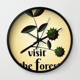 Visit The Forest Government poster Wall Clock