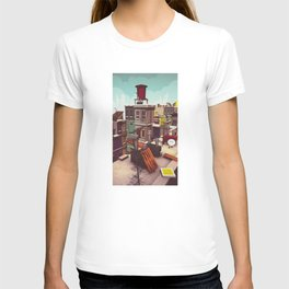 On the roofs of Inner Town T-shirt