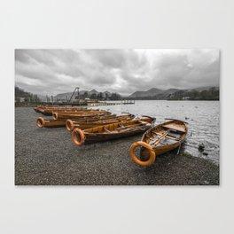Boats at Derwent Water Canvas Print