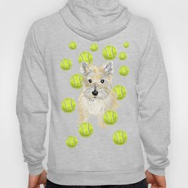Miss Caroline the Cairn Terrier is Obsessed About Fetching Tennis Balls Hoody