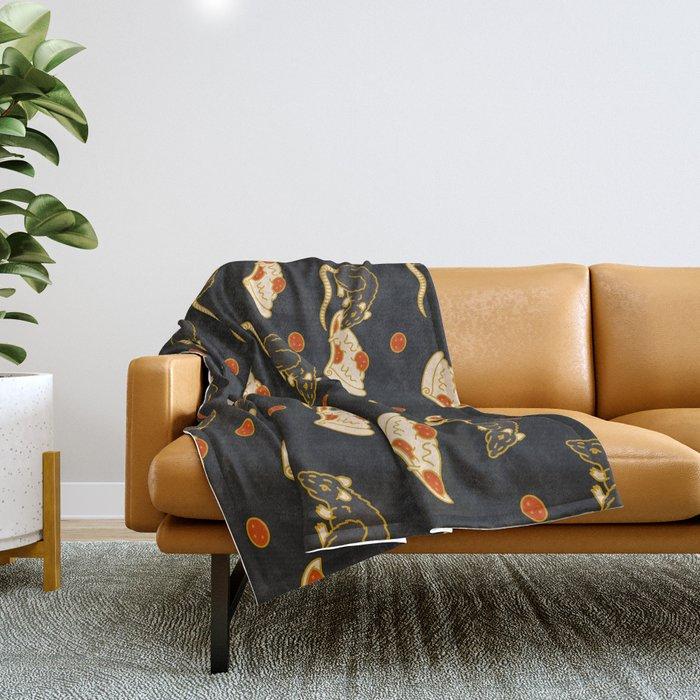 Pizza Rat Throw Blanket