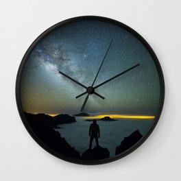 Milky way man Wall Clock