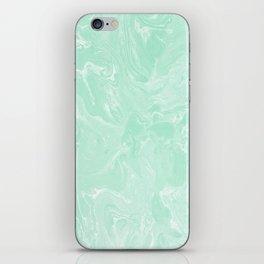Mint Green Pastel Marble Minimalist iPhone Skin