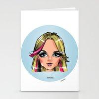 shameless Stationery Cards featuring Britney Cartoon: Shameless by Eduardo Sanches Morelli