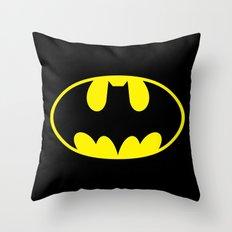 The Bat Man Throw Pillow