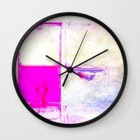 pulp Wall Clocks featuring Pulp by PeDSchWork