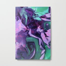 Restless Unicorn. Dynamic Purple and Teal Abstract. Metal Print