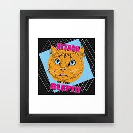 Attack of the Blep Framed Art Print