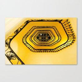 Carlton Hotel Cannes Spiralling Stairwell! Canvas Print