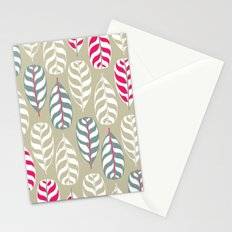 Simple leaf print, experiment Stationery Cards