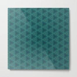 Dark Teal Textured Pattern Design Metal Print
