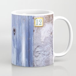 Old Blue Italian Door Coffee Mug
