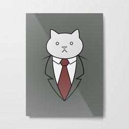Business Cat Metal Print