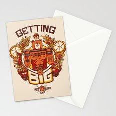 Getting Big Bear Yellow Stationery Cards