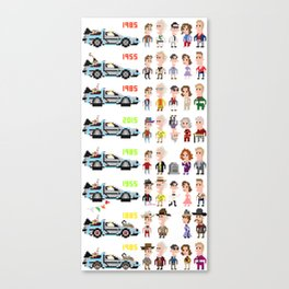 Back to the Future iotacons Canvas Print