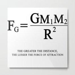 Newton's law of universal gravitation Metal Print