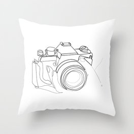 """"""" Photography Collection """" - Hand Holding Digital Camera Throw Pillow"""