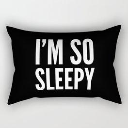 I'M SO SLEEPY (Black & White) Rectangular Pillow