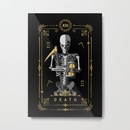 Death XIII Tarot Card Metal Print