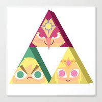 triforce Canvas Prints featuring triforce! by Spencer Duffy