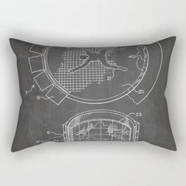 Skydiving Wind Tunnel Patent - Sky Diving Art - Black Chalkboard Rectangular Pillow