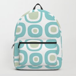 Mid Century Modern Garden Path Pattern 353 Sage and Aqua Backpack