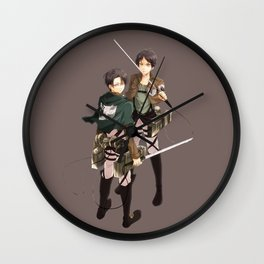 Levi with Eren Wall Clock