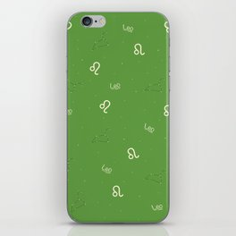 Leo Pattern - Green iPhone Skin