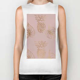 Gold Tropical Biker Tank