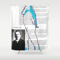 carl sagan Shower Curtains featuring Carl Gustav Jung – Nude.1 by Hector Pahaut
