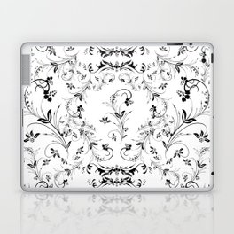 Abstract floral frame Laptop & iPad Skin