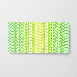 Texture of grass. Imitation of grass from strips for fabric or decor. Metal Print