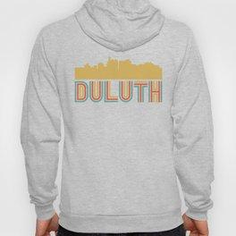 Vintage Style Duluth Minnesota Skyline Hoody