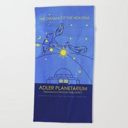 Adler Planetarium (Chicago) Beach Towel