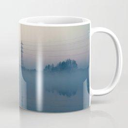Foggy Morning At Chasewater Coffee Mug