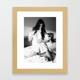 Snow White - White Shirt Framed Art Print