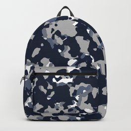 Blue Grey Camouflage Backpack