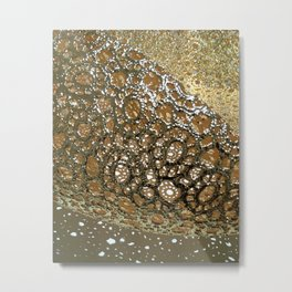 Lace Chair Details - Close Up Photograph Metal Print