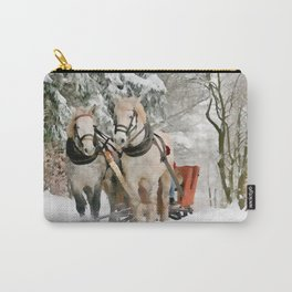 Winter Sleigh Ride Carry-All Pouch