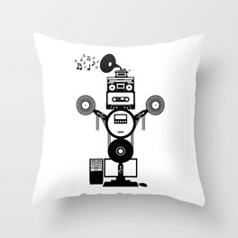 MusicBot Throw Pillow