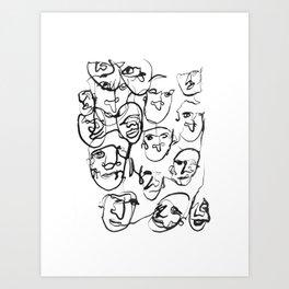 FACES / 000 Art Print