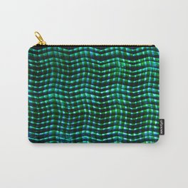 Screened Green Carry-All Pouch